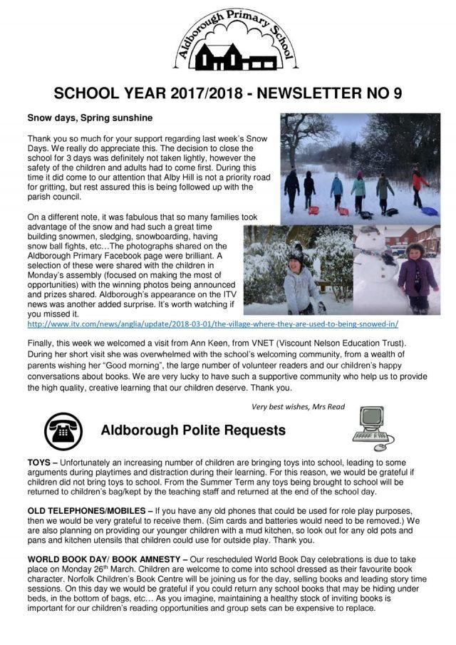 thumbnail of Newsletter Spring newsletter 9