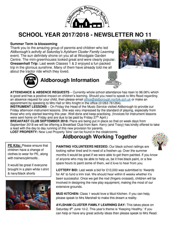 school year 2017 2018 newsletter no 11