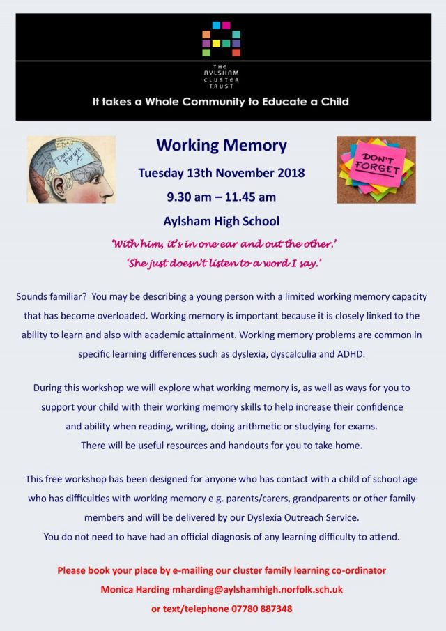 thumbnail of Dyslexia working memory 13th November 2018