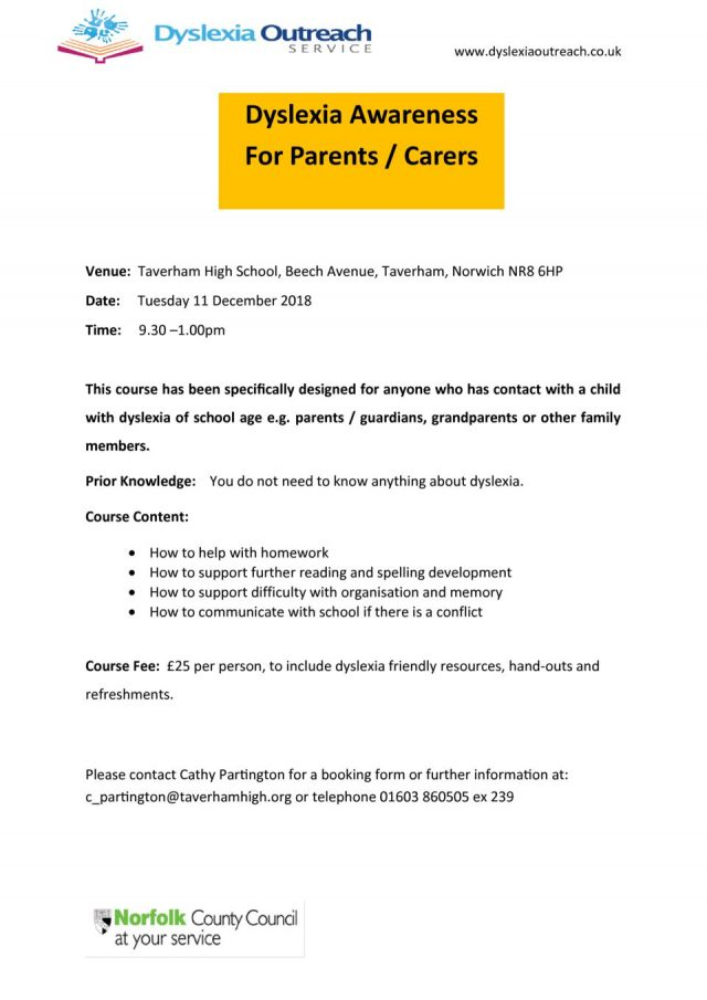thumbnail of Dyslexia Awareness for Parents Flyer