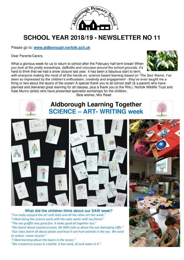 thumbnail of Newsletter 11 Spring 2019 1.3.19