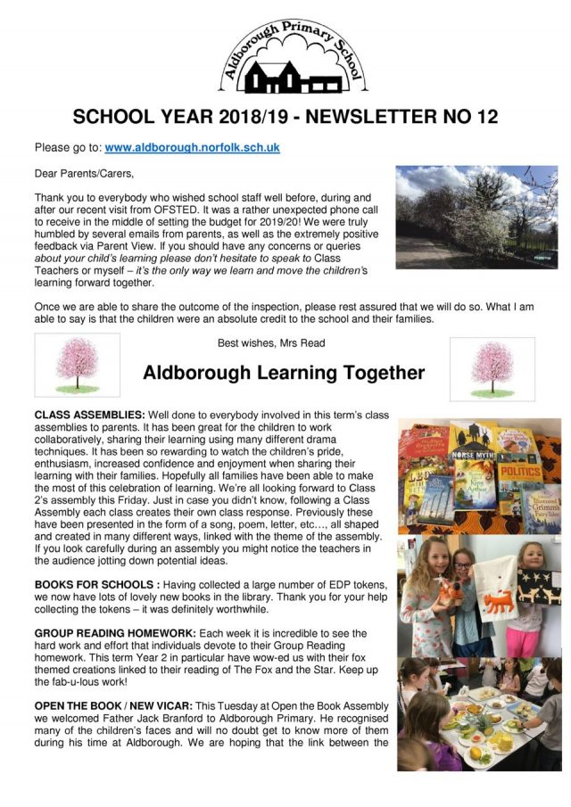 thumbnail of Newsletter 12 Spring 2019 27.3.19