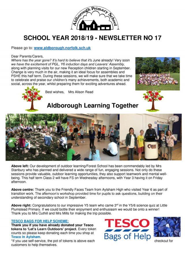 thumbnail of Newsletter 17 Spring 2019 7.6.19