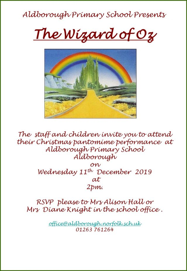 Community Performance Invites Wizard of Oz