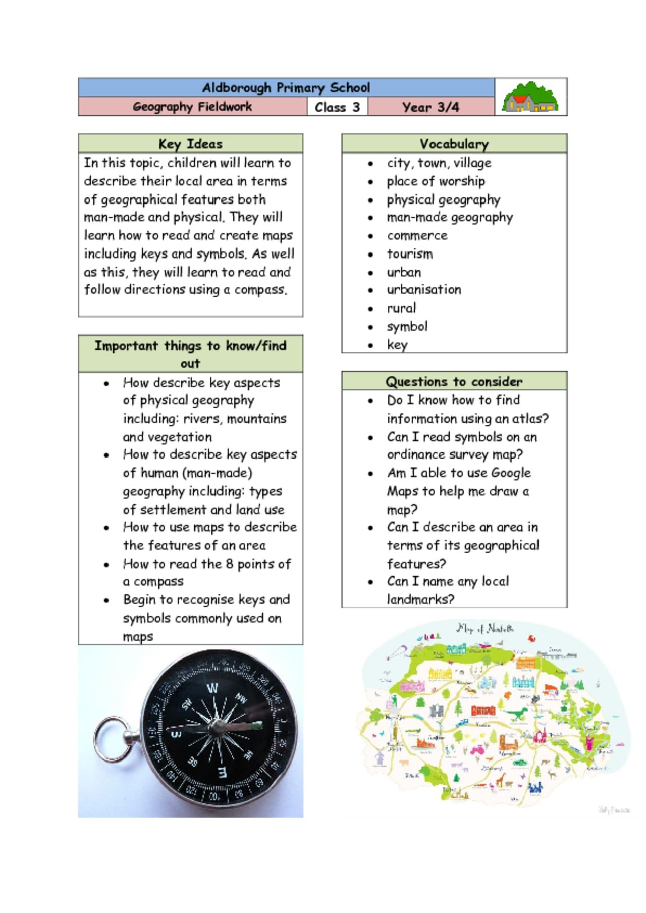 thumbnail of Knowledge Organiser – Class 3 Geography Fieldwork